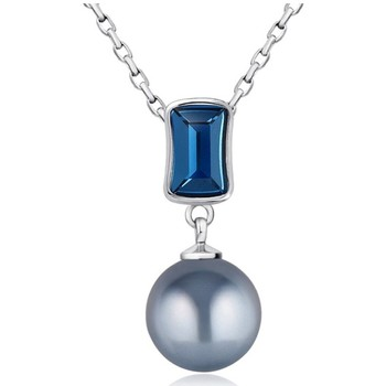 Watches Women Pendants Blue Pearls Blue Pearl and Swarovski Crystal Elements Pendant Multicolored