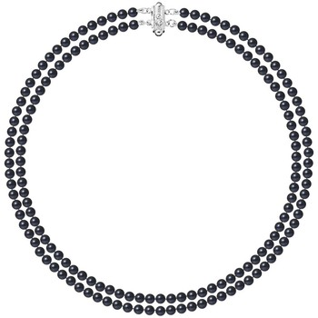 Watches Women Necklaces Blue Pearls BPS K023 W Black