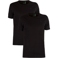Clothing Men Short-sleeved t-shirts G-Star Raw 2 Pack Slim Crew T-Shirts black