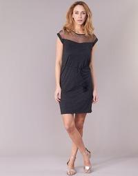 Clothing Women Short Dresses Le Temps des Cerises JURIETO Black