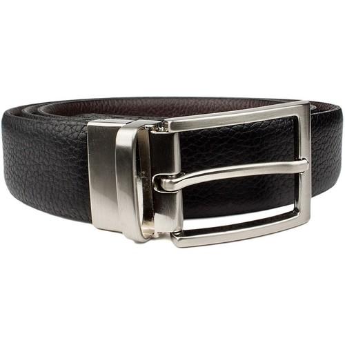 Clothes accessories Boy Belts Vaello LEATHER BELT BLACK