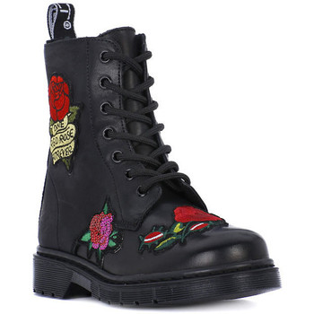 Shoes Girl Boots Cult SABBATH MID FLOWER Nero