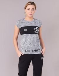 Clothing Women short-sleeved t-shirts Philipp Plein Sport THINK WHAT U WANT Grey
