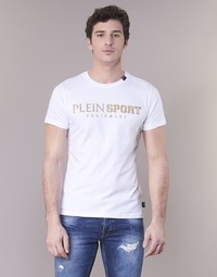 Clothing Men short-sleeved t-shirts Philipp Plein Sport BY YOU White / Gold