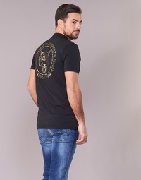 Clothing Men short-sleeved polo shirts Philipp Plein Sport GO FAST Black / Gold
