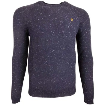 Clothing Men jumpers Farah Bagod Crew 7G Purl Stitch blue