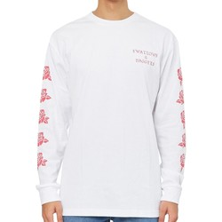 Clothing Men Long sleeved tee-shirts Swallows & Daggers Hand Picked Rose Long Sleeve T-Shirt White White
