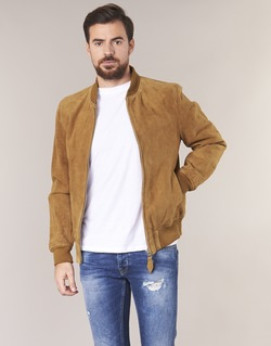 Clothing Men Leather jackets / Imitation leather Schott LC301 Cognac