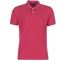Clothing Men short-sleeved polo shirts Gant CONTRAST COLLAR PIQUE RUGGER Red