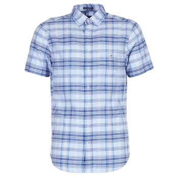 Clothing Men short-sleeved shirts Gant BLUE PACK MADRAS REG Blue