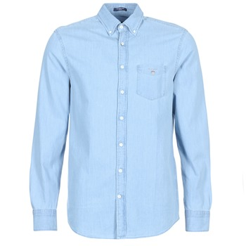 Clothing Men long-sleeved shirts Gant THE INDIGO REG Blue