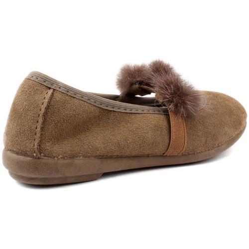 Shoes Children Flat shoes Vulladi CAN SERRAJE POMPONES BROWN