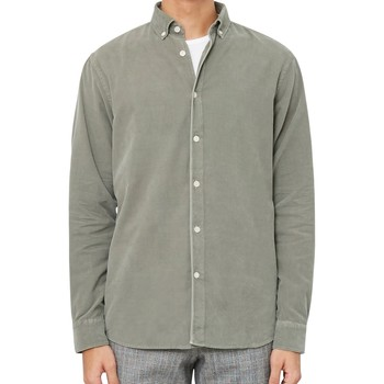 Clothing Men long-sleeved shirts Wax London Bampton Shirt Green Green