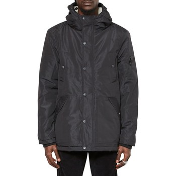 Clothing Men Parkas The Idle Man Sherpa Lined Parka Black Black