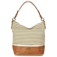 Bags Women Small shoulder bags David Jones JOTI Green / Brown