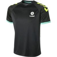 Clothing Men Short-sleeved t-shirts Hummel Maillot  Trophy noir/vert/jaune
