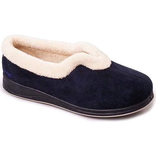 Shoes Women Slippers Padders Carmen Womens Full Slippers blue