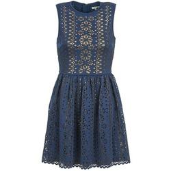 Clothing Women Short Dresses Manoush NEOPRENE Blue / Gold