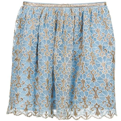 Clothing Women Skirts Manoush ARABESQUE Blue / Gold