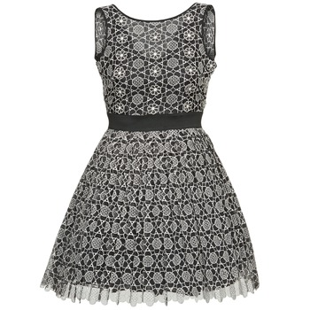 Clothing Women Short Dresses Manoush DAISY Black / Grey