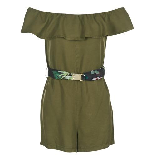 Clothing Women Short Dresses Guess RESPUNNI Kaki