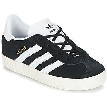 Shoes Children Low top trainers adidas Originals GAZELLE I Black / White
