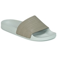 Shoes Tap-dancing adidas Originals ADILETTE Beige / Green