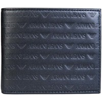 Bags Men Wallets Armani jeans Wallet Bifold 3 Card Holder Slots and Coin Pouch 938540 CC999 black