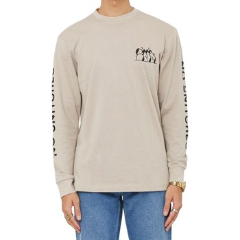 Clothing Men Long sleeved tee-shirts Swallows & Daggers No Snitches Long Sleeve T-Shirt Tan Other