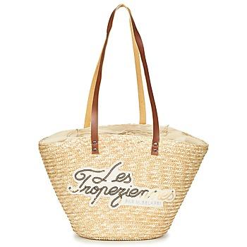 Bags Women Shopping Bags / Baskets Les Tropéziennes par M Belarbi MILOS Beige