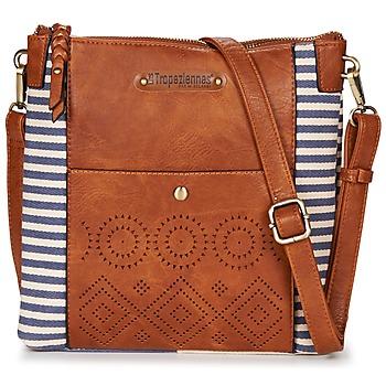 Bags Women Shoulder bags Les Tropéziennes par M Belarbi LEUCATE 04 Brown / Marine