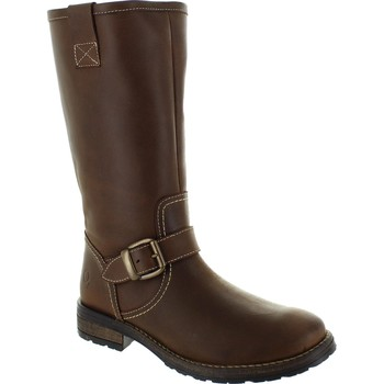 Shoes Women High boots Oxygen Viona Crazy Horse Brown