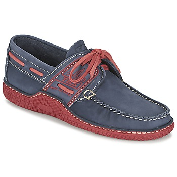 Shoes Men Boat shoes TBS GLOBEK Blue / Red