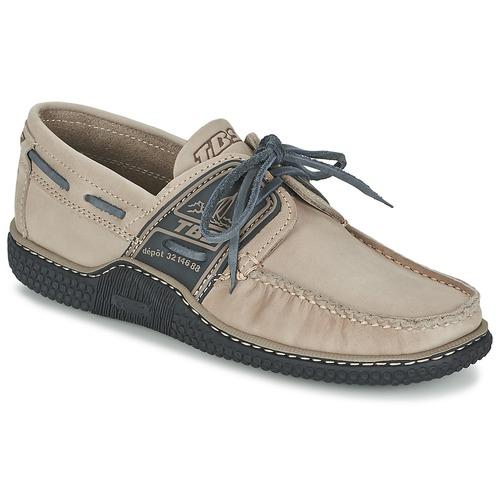 Shoes Men Boat shoes TBS GLOBEK Beige