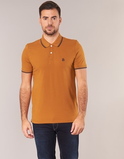 Clothing Men short-sleeved polo shirts Selected SEASON Brown