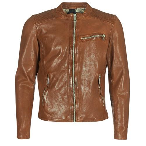 Clothing Men Leather jackets / Imitation leather Redskins CROSS Cognac