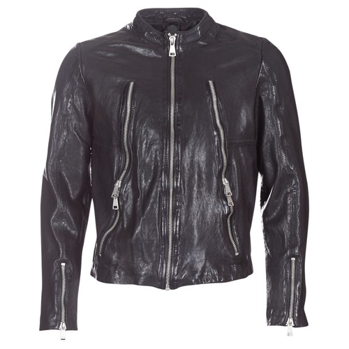 Clothing Men Leather jackets / Imitation leather Redskins ROYCE Black
