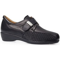 Shoes Women Derby Shoes Calzamedi SHOES  STRETCH VELCRO LEATHER W BLACK