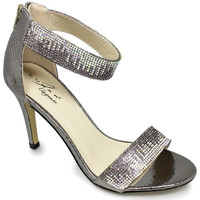 Shoes Women Heels Lunar Ladies Clara Embellished Evening Shoe Pewter
