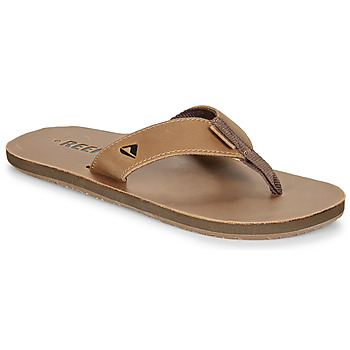 Shoes Men Flip flops Reef LEATHER SMOOTHY Brown