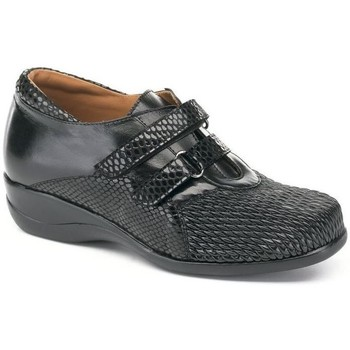 Shoes Women Derby Shoes Calzamedi ZAPATOS  DRAGÓN TEXTURA DOBLE VELCRO 0302 BLACK
