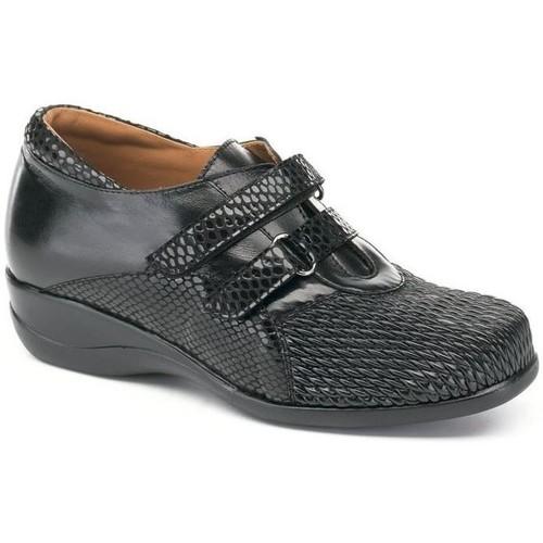 Shoes Women Derby Shoes Calzamedi S  DRAGÓN TEXTURA DOBLE 0302 BLACK