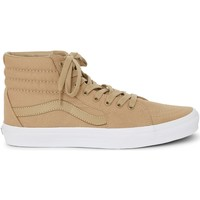 Shoes Men Hi top trainers Vans SK8-Hi Trainers Khaki & White Green