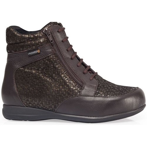 Shoes Women Hi top trainers Calzamedi BOOTS  DIABETICS DOUBLE SCALES ZIPPER W BROWN
