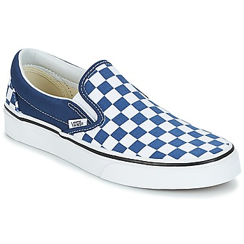 Shoes Slip ons Vans Slip-On Checkerboard / Estate / Blue / True / White