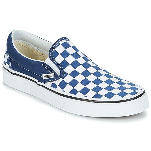 Shoes Slip-ons Vans Slip-On Checkerboard / Estate / Blue / True / White