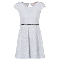 Clothing Women Short Dresses Moony Mood IKIMI White / Marine