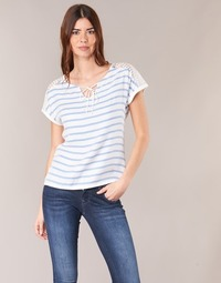 Clothing Women Tops / Blouses Casual Attitude IYUREOL White / Blue