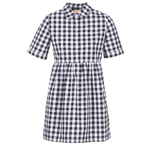 Clothing Women Short Dresses Moony Mood IKAMAL White / Black