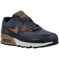Shoes Men Low top trainers Nike Air Max 90 Premium Navy blue-Brown